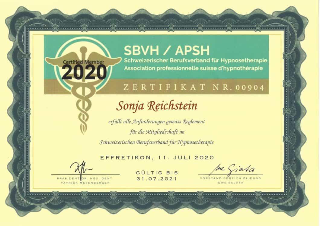 SBVH Zertifikat