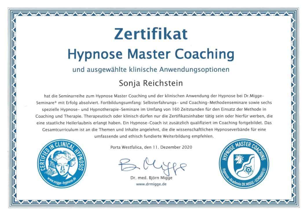 Hypnose Master Sonja Reichstein Brakel Paderborn
