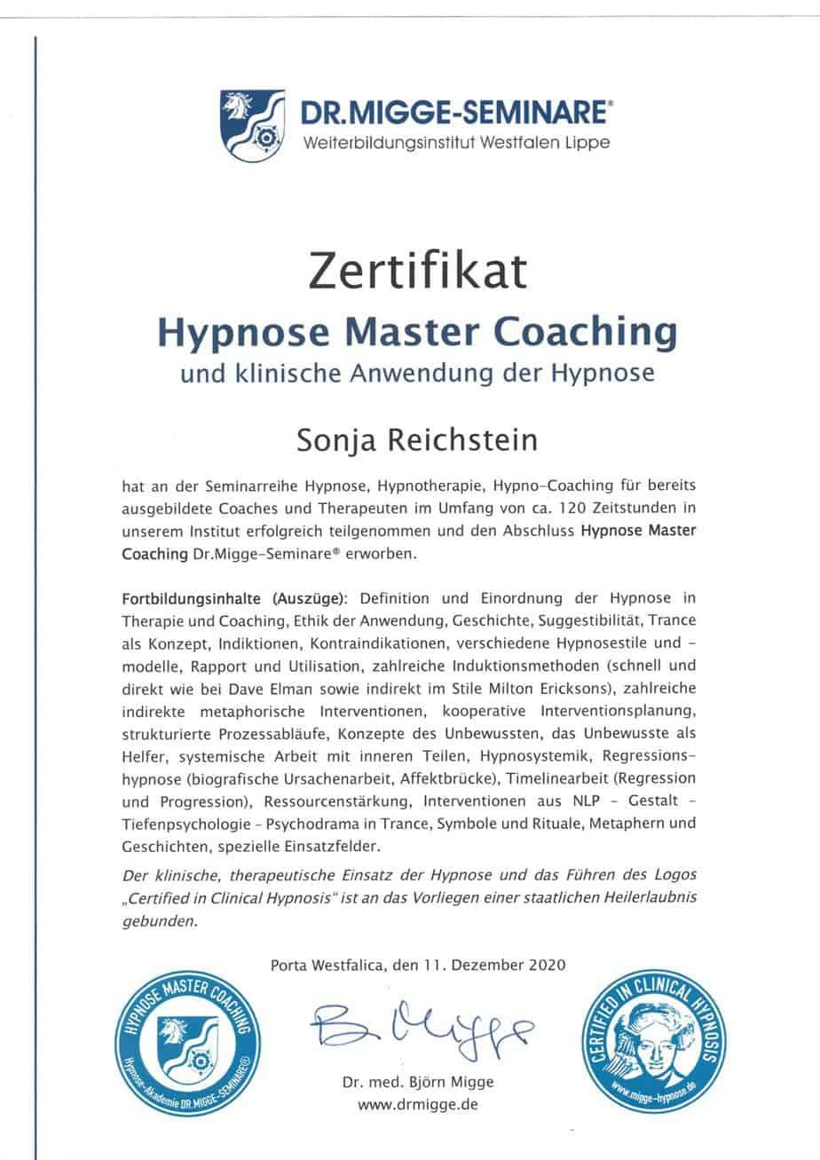 Hypnose Coaching Sonja Reichstein Brakel Paderborn